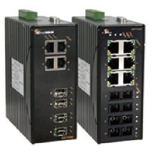 EtherWAN 8-Port 10/100BASE-TX + 2-Port Gigabit Hardened Managed Ethernet Switch